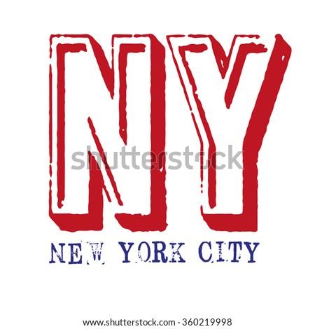 New York city logo on a white background, raster - stock photo