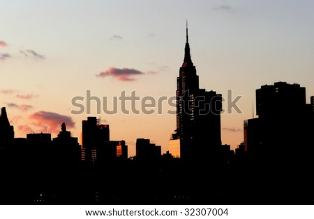 New York City - Manhattan at sunset