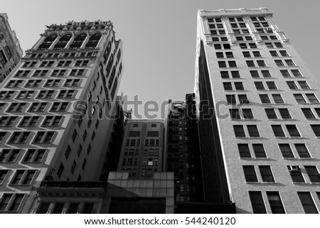 New York City, Manhattan buildings background view
