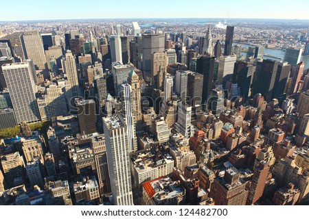 New York City Manhattan cityscape, USA - stock photo