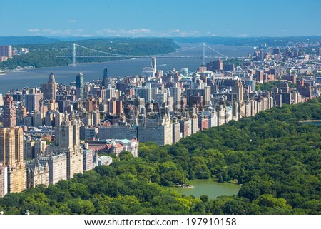New York City Manhattan cityscape, USA  - stock photo