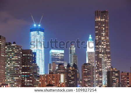 New York City Manhattan downtown urban city skyline