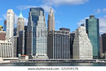 New York City Manhattan panorama - stock photo