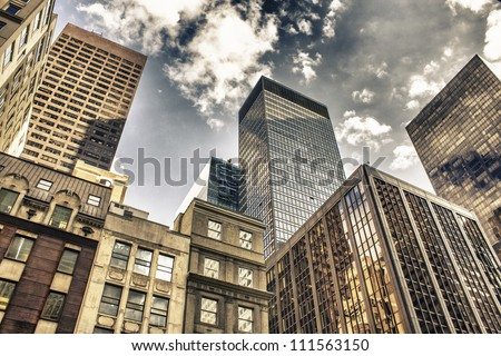 New York City Manhattan Skyline, U.S.A. - stock photo