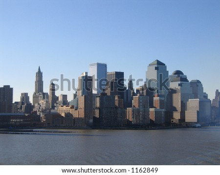 New York City Manhattan View Downtown