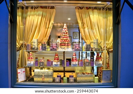 NEW YORK CITY - MARCH 9, 2015: Famous Laduree bakery and tea room in New York City, USA. - stock photo