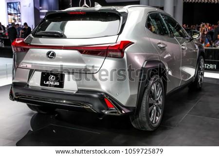 New York Citymarch Lexus Ux Stock Photo Shutterstock - Car show 2018 nyc