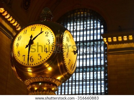 New York City - May 9, 2015: Grand Central Terminal Clock, New York City, USA.