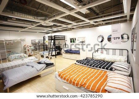NEW YORK CITY   MAY 19 2016: Ikea Is A Group Of International Companies That