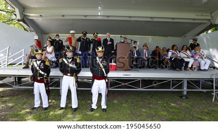 NEW YORK CITY - MAY 26 2014: The 146th annual King's County Memorial Day Parade, one of the nation's oldest, honored fallen & living veterans in the streets of Bay Ridge, Brooklyn. - stock photo