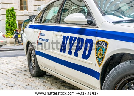 NEW YORK CITY, NEW YORK, USA - MAY 15, 2013: NY Police Department Car