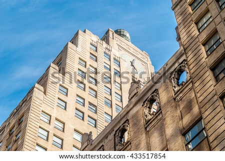 NEW YORK CITY, NEW YORK, USA  ?? MAY 14, 2013: Times Square Clock Tower - stock photo