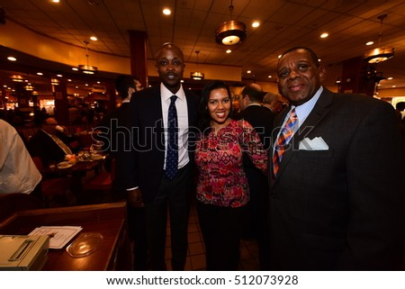 NEW YORK CITY - NOVEMBER 4 2016: Key figures in New York's Democratic Party gathered at Junior's in Brooklyn for Steve Cohn's pre-election breakfast.