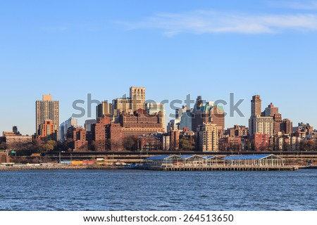 NEW YORK CITY, NOVEMBER 18:  The Brooklyn skyline in New York City as viewed from the East River on November 18, 2014.