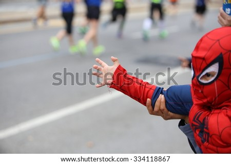 NEW YORK CITY - NOVEMBER 1 2015: The 45th annual TCS New York City marathon, organized by the New York Road Runners Club, drew 50,530 finishers,
