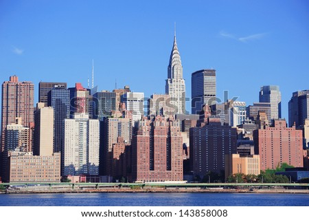 NEW YORK CITY, NY, USA - JUL 10: Chrysler Building in midtown Manhattan on July 10, 2011, New York City. Chrysler Building was designed by architect William Van Alena as Art Deco architecture in US. - stock photo