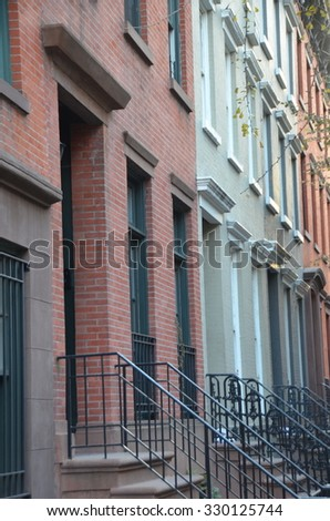 NEW YORK CITY - October 21, 2015: Buildings in Lower Manhattan, NYC, USA.