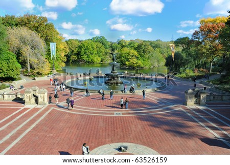 NEW YORK CITY - OCTOBER 22: Historic Bethesda Terrace in Central Park was finished in 1864, shows up in many works of pop culture, and is a popular tourist attraction October 22, 2010 in New York, NY.