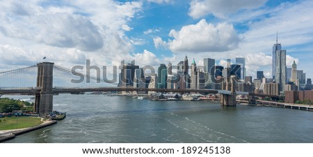 New York City panoramic - stock photo