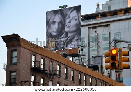 NEW YORK CITY - SEPTEMBER 27, 2014: New York City Manhattan skyline, NYC, USA - stock photo