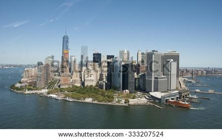 New York City Sky View - stock photo