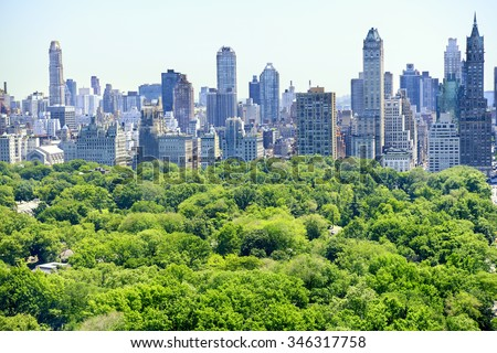 New York City skyline - stock photo