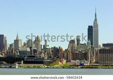 New York City Skyline including The Empire State Building.