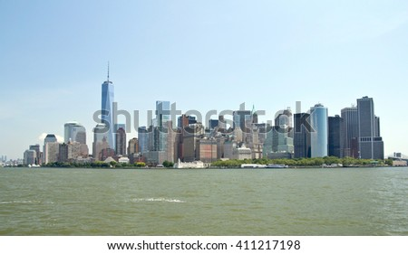 New York City, Skyline, Manhattan - stock photo