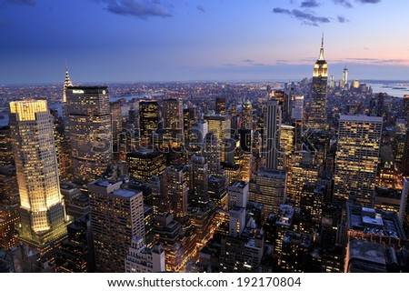 New York City skyline, Manhattan, New York - stock photo
