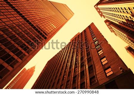 New York City skyscraper - stock photo