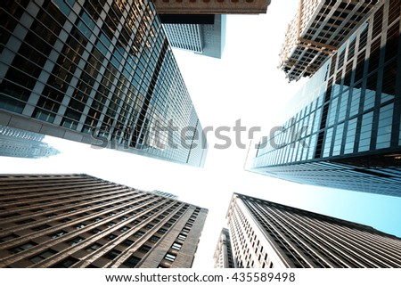 New York City skyscrapers - stock photo