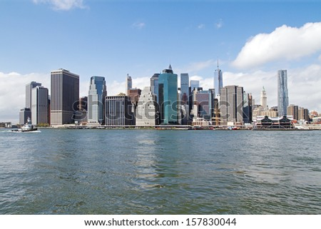 New York city skyscrapers, abstract urban background