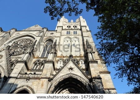New York City, United States - Cathedral of St. John the Divine, head church of Episcopal Diocese of New York