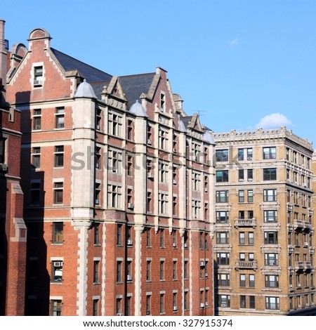 New York City, United States - Columbia University campus in Upper Manhattan (Morningside Heights neighborhood of Upper West Side) - stock photo