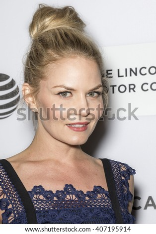 New York City, USA - April 16, 2016: Actress Jennifer Morrison attends the premiere of The Family Fang at John Zuccotti Theater during the 2016 Tribeca Film Festival - stock photo
