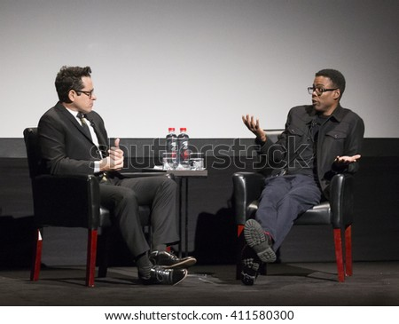 New York City, USA - April 15, 2016: Director J.J. Abrams and comedian Chris Rock attend Tribeca Talks Directors Series - J.J. Abrams With Chris Rock - during the 2016 Tribeca Film Festival