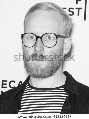 New York City, USA - April 24, 2016: United visual artist Ben Kreukniet attends Tribeca Talks - What We Talk About When We Talk About The Bomb during the 2016 Tribeca Film Festival at SVA Theater 2