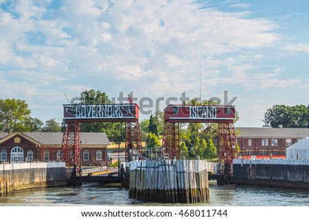 NEW YORK CITY, USA - JUNE 24, 2016: Governors Island: Ferry Entrance