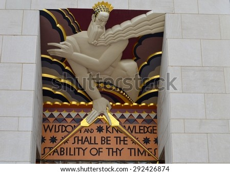 New York City, USA - June 30, 2015: Part of the Rockefeller Center, Manhattan, NYC, USA. - stock photo