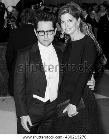 New York City, USA - May 2, 2016: J.J. Abrams and Katie McGrath attend the Manus x Machina Fashion in an Age of Technology Costume Institute Gala at the Metropolitan Museum of Art