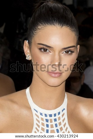 New York City, USA - May 2, 2016: Kendall Jenner attends the Manus x Machina Fashion in an Age of Technology Costume Institute Gala at the Metropolitan Museum of Art