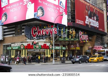 New York City, USA - November 5: View of Manhattan near 9th Avenue in New York City, USA on November 5, 2014. - stock photo