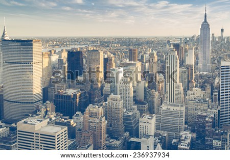 New York city view - stock photo