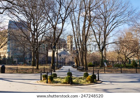 New York City - Washington Square Park in Manhattan - stock photo
