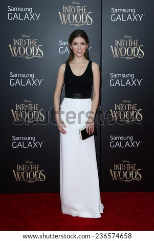 "NEW YORK-DEC 8: Actress Anna Kendrick attends the ""Into The Woods"" premiere at the Ziegfeld Theatre on December 8, 2014 in New York City. - stock photo"