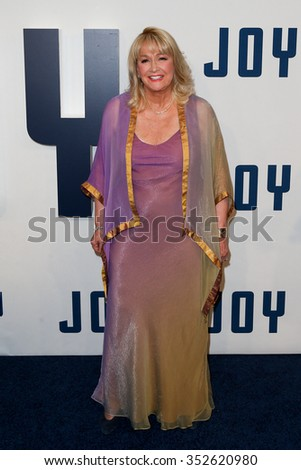 """NEW YORK-DEC 13: Actress Diane Ladd attends the """"Joy"""" premiere at the Ziegfeld Theatre on December 13, 2015 in New York City. - stock photo"""