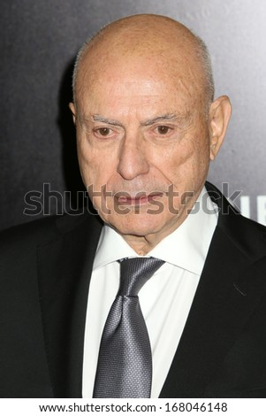 "NEW YORK - DEC 16: Alan Arkin attends the premiere of ""Grudge Match"" at the Ziegfeld Theater on December 16, 2013 in New York City."