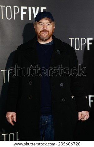 "NEW YORK-DEC 3: Comedian/actor Louis C.K. attends the ""Top Five"" premiere at the Ziegfeld Theatre on December 3, 2014 in New York City. - stock photo"