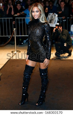 NEW YORK-DEC 21: Entertainer Beyonce attends a release party and screening for her new self-titled album 'Beyonce' at the School of Visual Arts Theater on December 21, 2013 in New York City. - stock photo