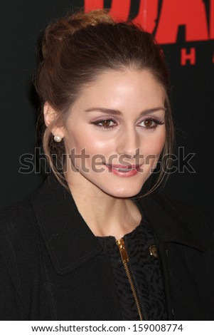 """NEW YORK - Dec 11: Olivia Palermo attends the premiere of """"Django Unchained"""" at the Ziegfeld Theatre on December 11, 2012 in New York City.  - stock photo"""